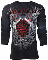 Xtreme Couture AFFLICTION Mens THERMAL T-Shirt ROYAL FAMILY Biker UFC M-3XL $58