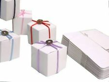 """100 pcs Square Favor Boxes White Glossy Finish 2""""x2""""x2"""" Candy Chocolate Box NEW"""
