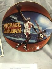 Vintage 1998 Michael Jordan Collector Plate Plate NO 7011c 1st Edition Signed
