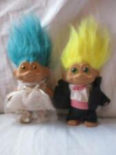 "1991 TNT Bride and Groom trolls  5"" adorable!"