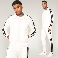 2Pcs Mens Zipper Sweatshirts Hoodie Pants Suit Gym Sports Jogging Tracksuit Set