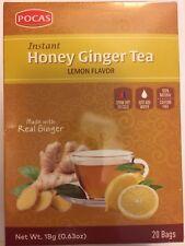 Instant Honey Ginger Tea Lemon 20 Tea bags - Pocas