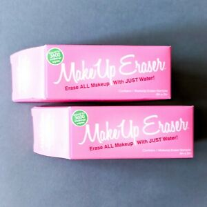 2x MAKEUP ERASER Reusable Makeup Remover Cloths | Pink | Travel Size 4in x 3in