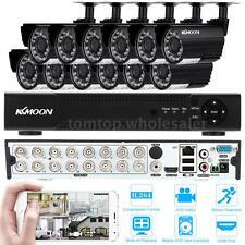 Kkmoon 16Ch Full 1080N/720P Dvr + 12*720P 1500Tvl Outdoor Camera Cctv System Kit