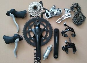 SHIMANO ROAD GROUPSET ST-2300 LEVERS FC-2350 34-50T CHAINSET MECHS BRAKES BB +