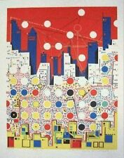 Risaburo Kimura Serigraph Hand Signed Numbered City 369 Circa 1972