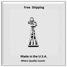 Texas Oil Rig Charm  for Necklace/Bracelet/Earrings Silver Tone