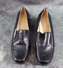 Women's  Mario D' boro Black Slip-On Shoes Sz 36