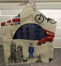 PEG BAG REVERSABLE DURABLE HAND MADE FULLY WASHABIE OUT IN LONDON / DARK BLUE