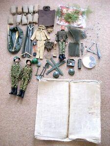 Vintage Action Men &  Various Accessories & Tent.