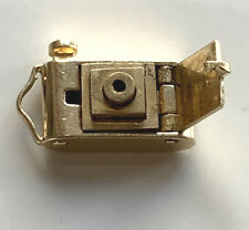 CAMERA SOLID 14K GOLD 3D PHOTO CHARM WITH MOVEABLE LENS RARE