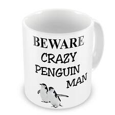 Crazy Penguin Man Novelty Gift Mug