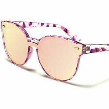 Fashion Upscale Foxy Chic Designer Purple Mirrored Flat Lens Cat Eye Sunglasses