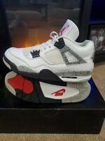 🔥CLEAN🔥 Nike Air Jordan 4 Retro OG White Cement 2016 Mens Shoes Size 10 Bred