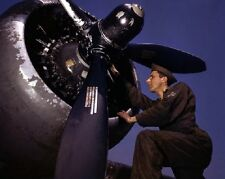 Servicing A-20 Bomber at Langley Air Field, VA 8 x 10 World War II WW2 Photo 582