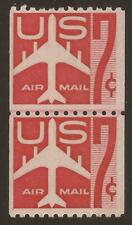 Us Sc# C61 Mnh 7c Jet Airliner line pair, 2 scans