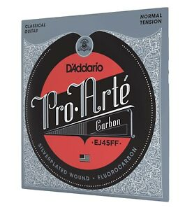 D'Addario EJ45FF ProArte Carbon Classical Guitar Strings, Dynacore Basses,Normal