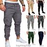 Men's Slim Fit Urban Straight Leg Trousers Casual Pencil Jogger Long Cargo Pants