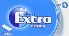 12 Packs - Wrigleys Extra Sugar Free Chewing Gum in Peppermint Flavour 14 pieces