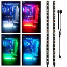 RGB Gaming LED Strip Lights Kit PC Case Lighting Gamer Mid Tower Aura Sync 2pcs