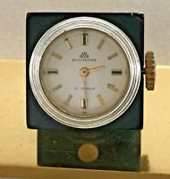 RARE VINTAGE SWISS BUCHERER JEWELS MOVEMENT WIND UP DICE CLOCK / WATCH