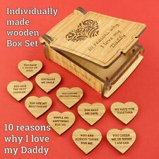 Personalised Christmas Birthday Gift- 10 Reasons Why I Love My Daddy Dad Present