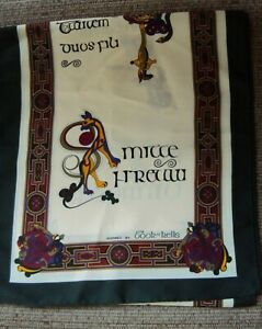 Long Irish Celtic Book of Kells Scarf - 12 x 53 inches