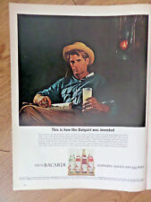 1965 Bacardi Rum Ad This is how the Daiquiri was Invented