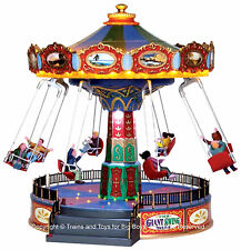 Lemax 44765 THE GIANT SWING RIDE Carnival Amusement Park Christmas Village O G I