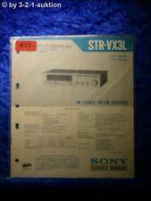 Sony Service Manual STR VX3L Receiver  (#0433)