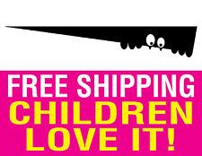 TOILET MONSTER vinyl sticker decal child bathroom decor fun art laugh FREE SHIP