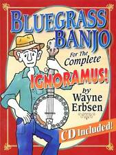 BLUEGRASS BANJO FOR THE COMPLETE IGNORAMUS BOOK + CD SET NEW