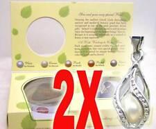 SALE Wholesale 2X boxes helix(drop) pendant Wish Pearl Necklace gift Set-who120