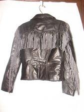 Vintage Branded Garments Leather Biker Jacket with Fringe  ~ Timeless design
