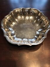 Chippendale International Silver Co 678 Silver Plate Vegetable Bowl Vintage