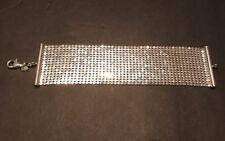Vtg LA DEA BENDATA Liquid Sterling Silver Designer Women's Bracelet Italy