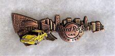 HARD ROCK CAFE NEW YORK 3D BRONZE SKYLINE GUITAR PIN # 94536