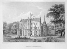 GERMANY Reinhardsbrunn Castle - 1860 Original Engraving Print