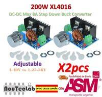 2pcs 200W XL4016 DC-DC 8A Step Down 4-40V to 1.25-36V Adjustable Power Supply