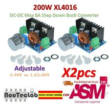 2pcs 200W XL4016 DC-DC 8A Step Down 4-40V to 1.25-36V Adjustable Power Supply