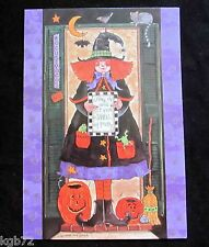 Leanin Tree Halloween Greeting Card Witch Pumpkin Moon Multi Color HW12