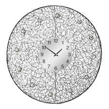 Premier Housewares 60cm Dia Black Tangle With Decorative Diamantes Wall Clock
