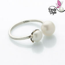 Freshwater pearl ring with sterling silver 925