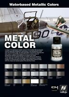 Vallejo Metal Color Full Range of Exceptionally Shiny Acrylic Metallics & Aux