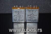 Two vintage Siemens PIO capacitors 1 uF + 1 uF 160V Klangfilm tube audio 1+1mfd