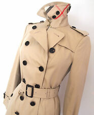 Cotton Check Women's Trench Coats