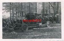 Foto, Zahnarzt Einsatz Ostfront, Geschützsammelstelle in Gambolowo, 8,8 cm Flak