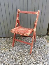 Vintage Retro Industrial Wooden Folding Chair Office Dining Kitchen Cafe