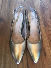 Lovely Clarks Collection Sling Back Heels Size 8
