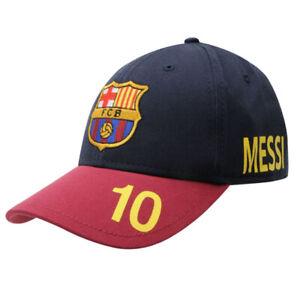 Barcelona Football Club Knitted Turn Up Hat Burgundy Beanie Team Badge Crest
